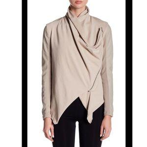 🆕 BLANKNYC Faux Leather Drape Front Jacket